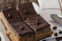 Tartes de chocolat avec des grains de café Photographie stock
