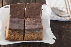 Tartes de chocolat d'un plat Photos libres de droits