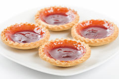 Tartes de confiture de fraise. Photo stock