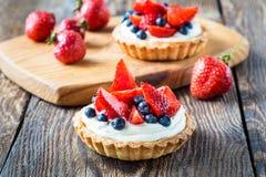 Tartes de dessert de fruit Images libres de droits