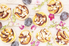 Tartes de prune Photographie stock