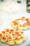 Tartes mit Erdbeere Lizenzfreie Stockbilder