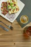 Tartiflette com toucinho, batatas e queijo Imagem de Stock