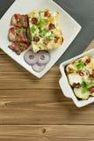 Tartiflette con pancetta, le patate ed il formaggio Immagine Stock Libera da Diritti