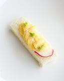 Tartine del pan de Mayo del huevo Imagen de archivo libre de regalías