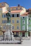 Tartini fyrkantsikt i Piran Royaltyfria Foton