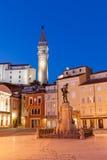 Tartini-Quadrat in Piran, Slowenien, Europa lizenzfreie stockfotografie