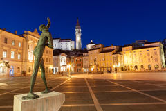 Tartini-Quadrat in Piran, Slowenien, Europa lizenzfreies stockbild
