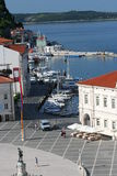 Tartini Square_dock and boats Stock Images