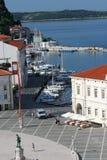 Tartini Square_dock et bateaux Images stock