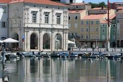 Tartini Square with marina Stock Image