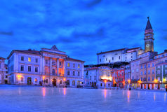 Tartini square in Piran Stock Image