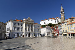 Tartini Square in Piran Stock Photo