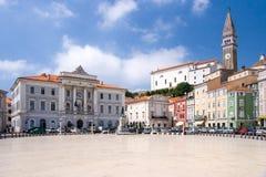 Tartini Square in Piran Stock Image