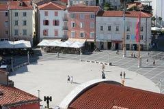 Tartini Square_Piran Royalty Free Stock Image