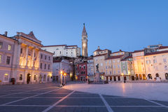 Tartini square in Piran, Slovenia, Europe Stock Image