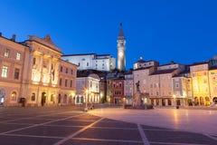 Tartinivierkant in Piran, Slovenië, Europa Royalty-vrije Stock Foto's