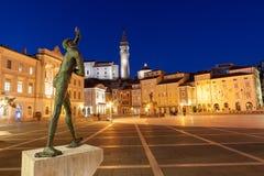 Tartinivierkant in Piran, Slovenië, Europa Royalty-vrije Stock Afbeelding