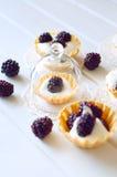 Tartlet με την κρέμα φρέσκα βατόμουρα Γλυκό καλοκαίρι μούρων desse Στοκ φωτογραφία με δικαίωμα ελεύθερης χρήσης