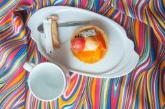 Tartlet arbuz, kantalup, pomarańcze (,) obraz royalty free