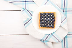 Tartlet with bluebarries and custard Stock Image