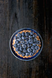 Tartlet with blueberries Royalty Free Stock Photography