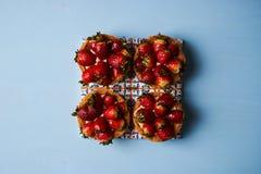 Tartlet cake or basket cake biscuit Stock Images