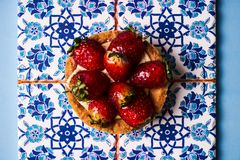 Tartlet cake or basket cake biscuit Stock Photo