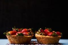Tartlet cake or basket cake biscuit Royalty Free Stock Photo