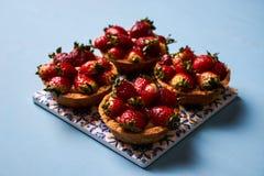 Tartlet cake or basket cake biscuit Royalty Free Stock Photos