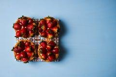 Tartlet cake or basket cake biscuit Royalty Free Stock Photography