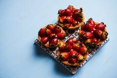 Tartlet cake or basket cake biscuit Stock Photos