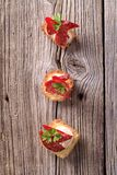 Tartlet canapes Stock Images