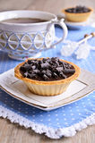 Tartlet with chocolate Stock Image