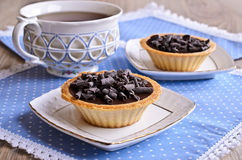 Tartlet with chocolate Royalty Free Stock Photo