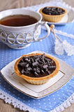 Tartlet with chocolate Stock Photos