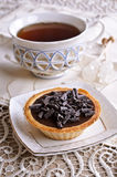 Tartlet with chocolate Stock Photo