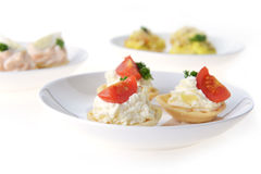 Tartlet with cream Royalty Free Stock Photography