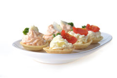 Tartlet with cream Royalty Free Stock Photos