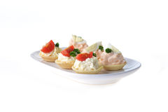 Tartlet with cream Stock Photography