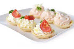 Tartlet with cream Stock Image