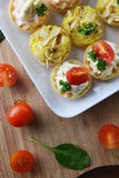 Tartlet with cream Stock Images