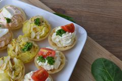 Tartlet with cream Royalty Free Stock Image