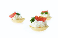 Tartlet with cream Royalty Free Stock Photo