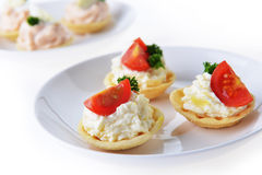Tartlet with cream Stock Photo