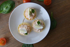 Tartlet with cream Royalty Free Stock Images