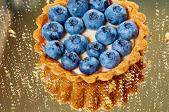 Tartlet with fresh blueberries Royalty Free Stock Photo