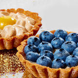 Tartlet with fresh blueberries Royalty Free Stock Photography