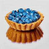 Tartlet with fresh blueberries Royalty Free Stock Image