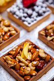 Tartlet with nuts Royalty Free Stock Image